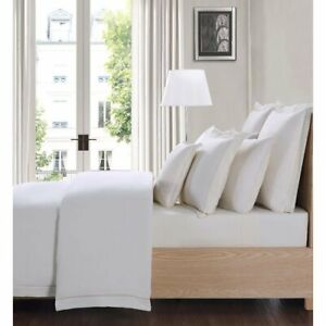 Charisma Classic 80%Cotton 20% Linen Luxury Sheet Set King Ivory
