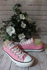 CONVERSE ALL STAR PINK CANVAS LACE UP LOW TOP TRAINERS SIZE UK 5 EUR 37.5