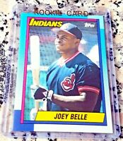 ALBERT JOEY BELLE 1990 Topps Rookie Card RC Cleveland Indians 381 HRs .295 BA $$