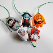 RARE Bandai Evangelion School Gashapon Strap Complete Set of 5 - Free Shipping