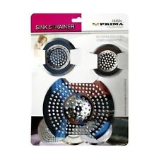 3 X STAINLESS STEEL SINK BATH PLUG HOLE STRAINER BASIN HAIR TRAP DRAINER COVER