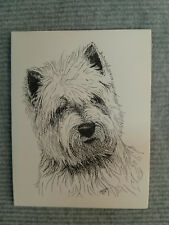 West Highland Terrier  Pen & Ink Stationary Cards, Greeting Cards. 10 ct.