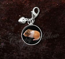 925 Sterling Silver Charm guinea pig Cavia porcellus cavy rodent