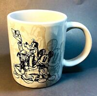 JERRY LEIGH DISNEY Mug Sketch Mickey Goofy Donald Coffee Cup UNUSED