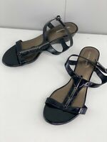 Hush Puppies Hawaii Womens Adjustable Strappy Wedge Heels Shoes Size 41 Black