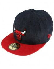 Denim   Red New Era 59 Fifty Chicago Bulls Densuede Fitted Baseball Cap 14ffe337f08d