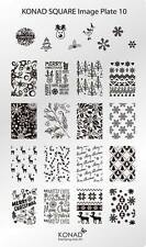 Konad Stamping Nail Art Square Image Plate 10 Christmas