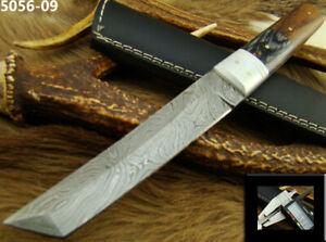 ALISTAR BEAUTIFUL HANDMADE DAMASCUS STEEL TANTO KNIFE HUNTING W/SHEATH (5056-9