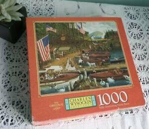 Charles Wysocki Jigsaw Puzzle Americana 1000 Piece Wooden You Like A...
