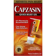 UK Capzasin Quick Relief Deep Penetrating Arthritis Pain Gel Topical Analgesic