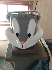 Bugs Bunny Looney Tunes Hard Plastic Bucket Pail Applause Warner Bros. 1997