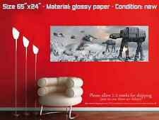 HOTH BATTLE collectible poster wall art at-at star wars empire strikes back wide