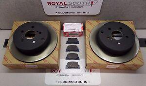Scion 2005 - 2010 tC Rear Brake Pads & Rotors Set Genuine OEM OE
