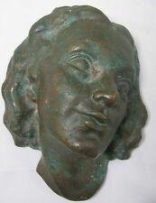 Koering Marietta 1903-1995 Bronze Relief / Kopf Frau / Mädchen Figur / Skulptur