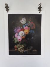 Arnoldus Bloemers A Rich Still Life of Roses, Poppies.. Lithograph Print