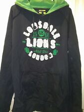 Lonsdale London black and green pullover/overhead hoodies, size M
