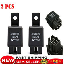 2X DC 12V 40A 40 AMP Car Auto Automotive Van Boat Bike 4 Pin SPST Alarm Relay