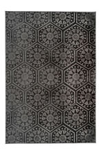 Teppich Marokkanisches Muster Ornamente Muster Teppiche Grau Schwarz
