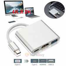3in1 Type C to 4K HDMI USB 3.0 Charging HUB USB-C Adapter Converter For Macbook