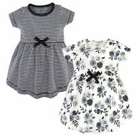 Touched by Nature Baby Organic Dress 2-Pack, Black Floral