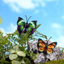 4pcs Butterfly Miniature Fairy Garden Ornament Plant Pot Craft Dollhouse DecorFG