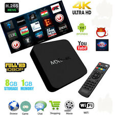 MXQ 4K Smart TV Box 1G+8G H.265 4K HD HDMI Android 6.0 quad-core  Latest 16.0