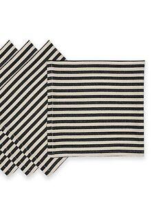 Black Striped Napkins For Sale Ebay