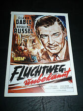 THEY MET IN BOMBAY, film card [Clark Gable, Rosalind Russell]