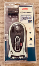 Coleman Outrider AM/FM Freeplay Driven Radio Metallic Wind-Up Rechargeable New