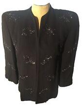 New listing Eisenberg & Sons Original 1940s Black Evening Jacket Size Small