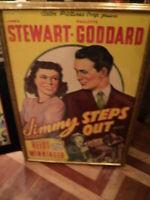 JIMMY STEPS OUT ,Jimmy Stewart ,Paulette Goddard , Rerelease  Pot of gold orig