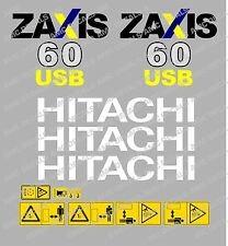 HITACHI ZAXIS 60USB MINI PELLE ENSEMBLE DÉCALQUE AUTOCOLLANT