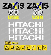HITACHI ZAXIS 60USB MINI BAGGER-AUFKLEBER-AUFKLEBER-SATZ