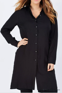 "EB&IVE Black ""Sybelles"" Long Sleeve Longline Shirt Size S/M  - NWT!"