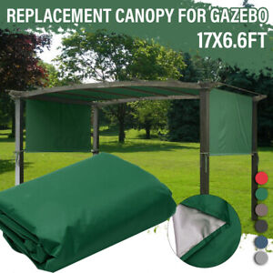 Sun Shade Pergola Canopy Outdoor Camping Cover Gardening Patio Shelter 17x6.6FT