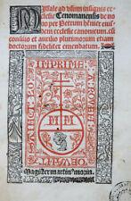 MISSALE AD USUM LE MANS ROUEN PIERRE HENNIER MORIN SCHWARZ-ROT DRUCK SELTEN 1511
