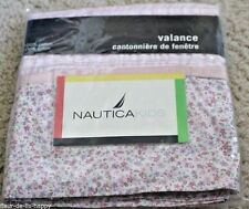 Nautica Kids~ NICOLE~Window Valance Pink Purple Plaid Floral Cotton Cottage