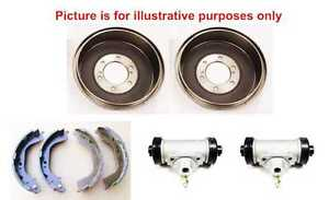 Rear Brake Shoes+Brake Drums+Wheel Cylinders For Mitsubishi L200 B40 2.5TD 06-15
