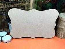 WOODEN VINTAGE MDF SIGNS SHAPE 1  Shapes (x 3) wood shapes plaque hanger sign