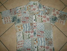 vtg 60s 70s CAMPUS NOW BREED SHIRT Straight Bottom Geometric Floral Paisley Mod