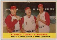 1958 Topps #386 Frank Robinson VG Tear Cincinnati Reds Ed Bailey FREE SHIPPING