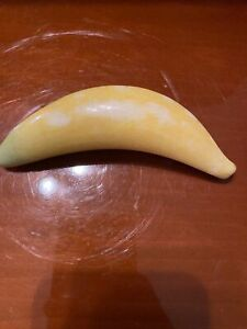 Vintage stone fruit hand carved Banana