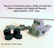 "1938 GMC ""COE"" SEMI-TRACTOR TRUCK - N SCALE - FNS"