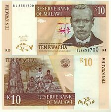 MALAWI Billet neuf de  10 KWACHA Pick51a  scene de lectures PECHEURS  2004