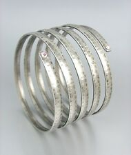 CHIC Basketball Wives Antique Silver Iridescent AB CZ Crystals Wrap Bracelet