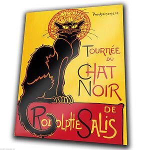SIGN METAL PLAQUE - Le Chat Noir The Black Cat French Vintage poster print