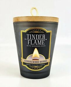 Dw Home Tinder Flame Sandalwood Myrrh Richly Scented Candle Wooden Wick 10.2 oz