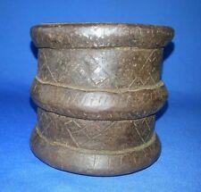 18'C Antique Primitive Iron Handcraft Tribal Kitchen Grain Measurement Pot India