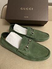 Gucci moccasin Authentic! Suede Slip on Green Driving Loafers