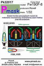 FOCKE-WULF FW-190 F-8 PAINTING MASK TO REVELL KIT #32017 1/32 PMASK